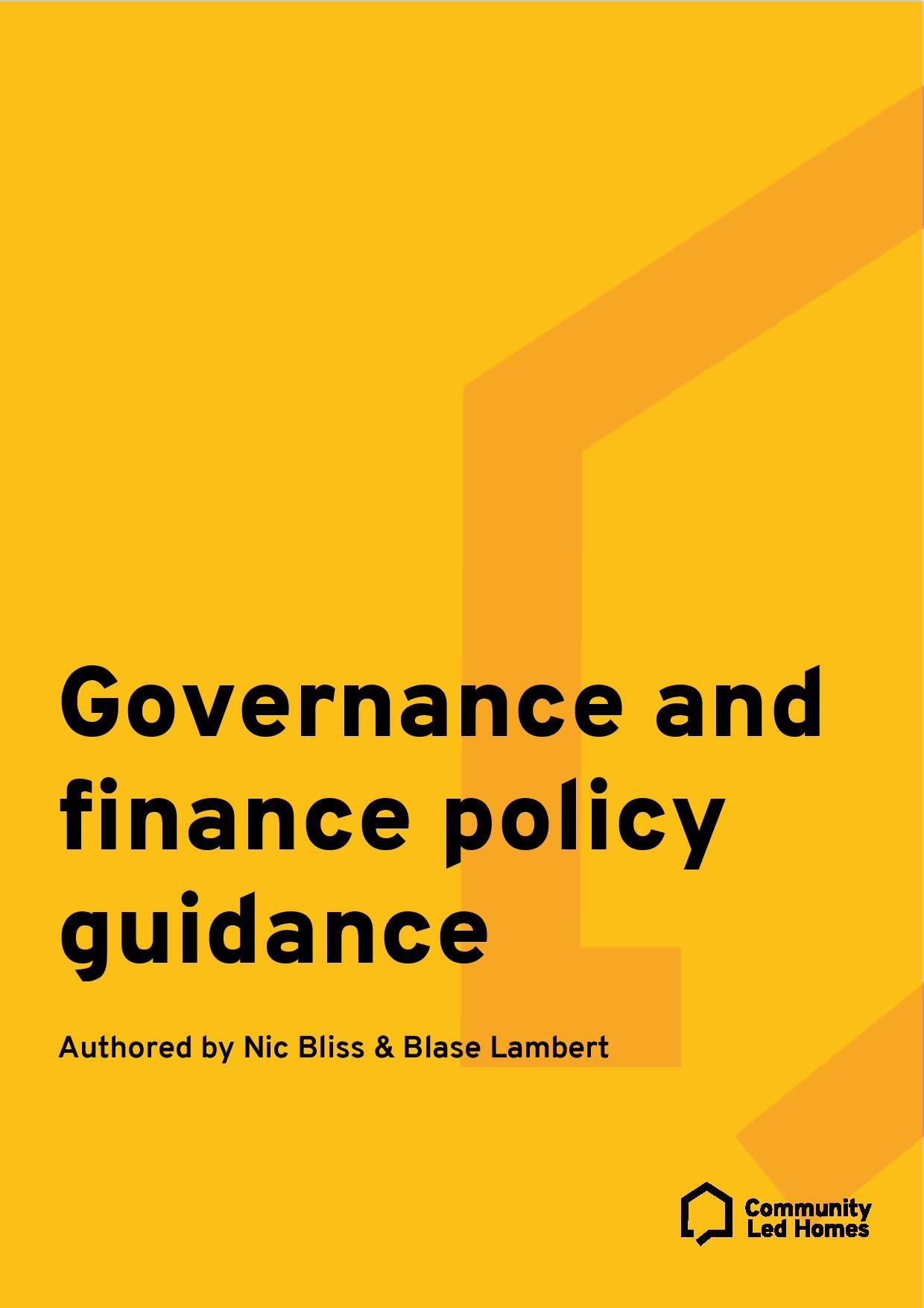 CLH governance-and-finance-policy-guidance
