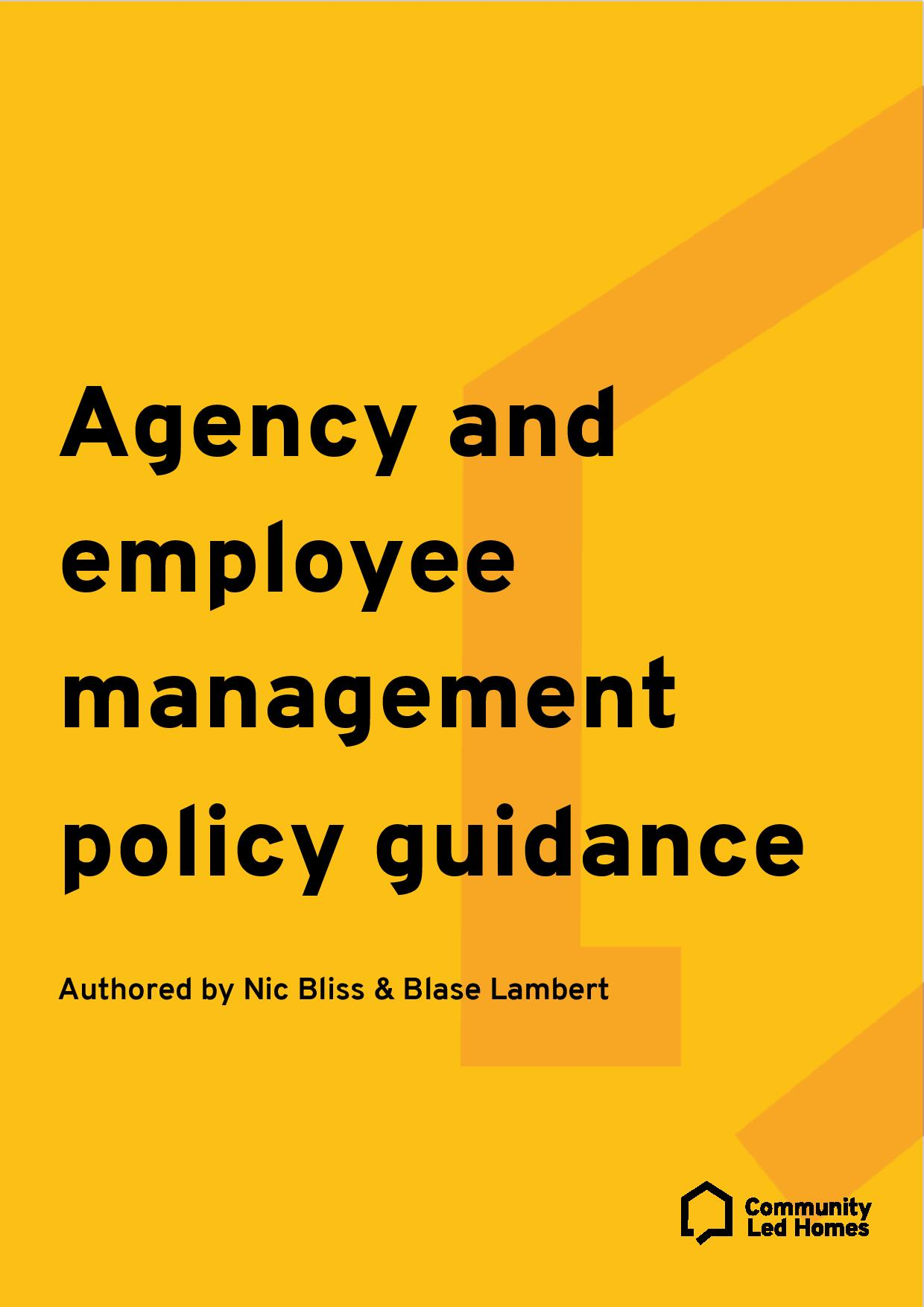 agency-and-employee-management-policy-guidance