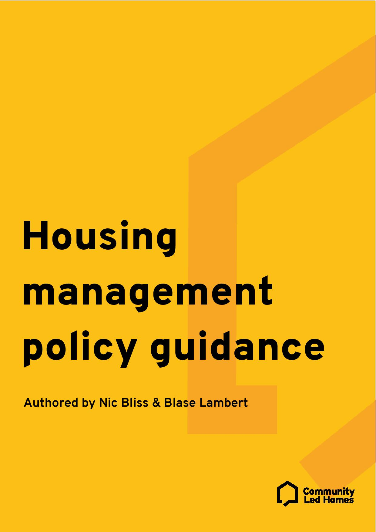 housing-management-policy-guidance